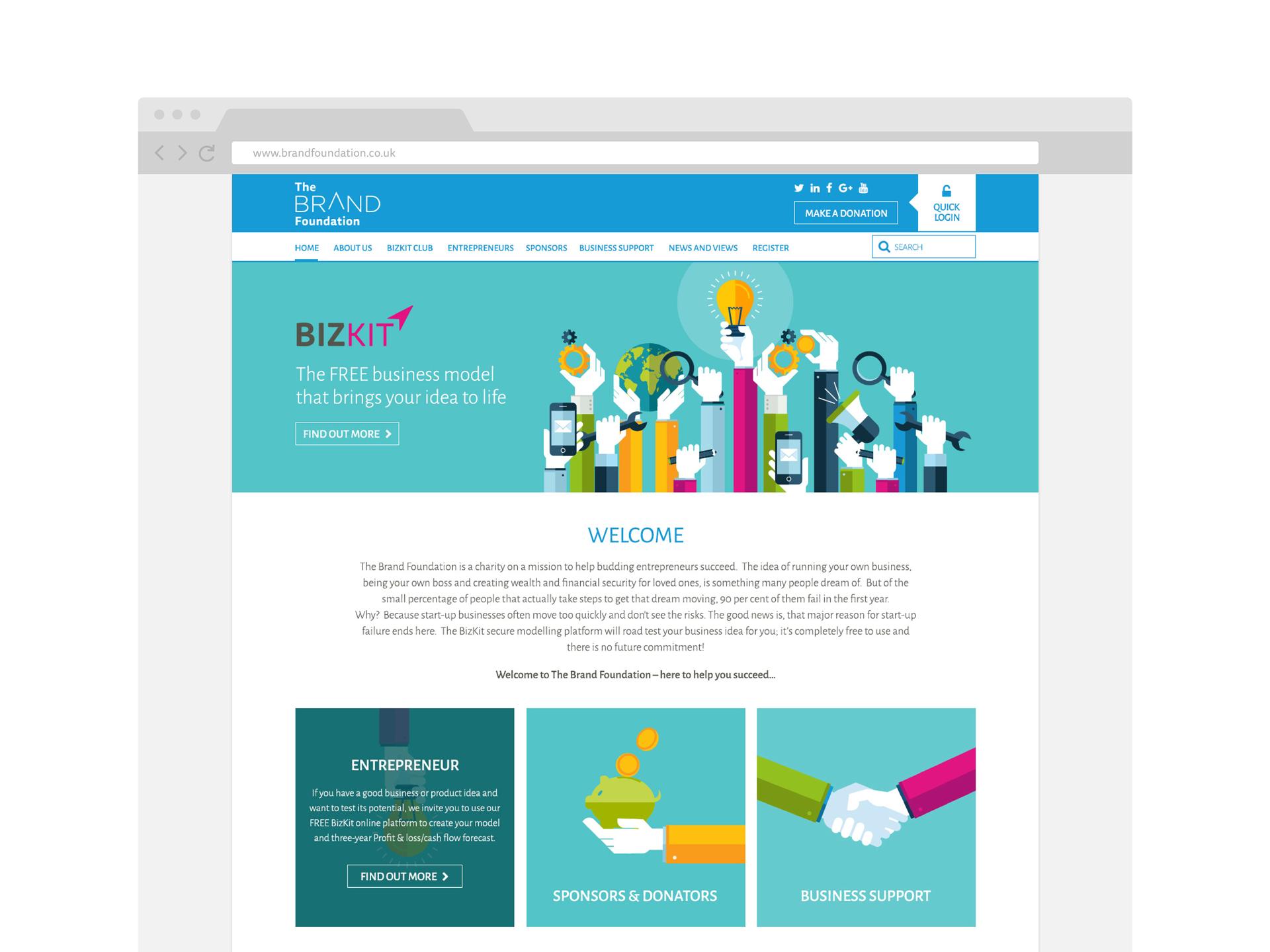 Brand Foundation website