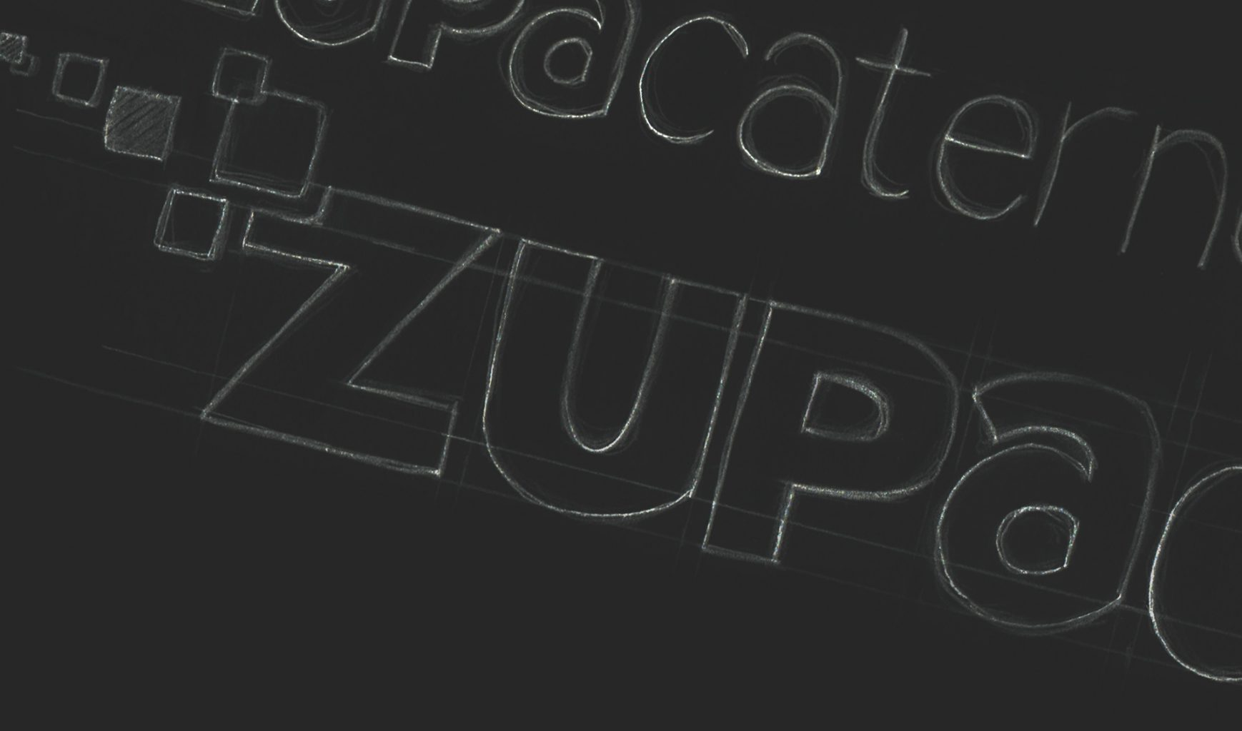 ZupaCaternet logo sketch