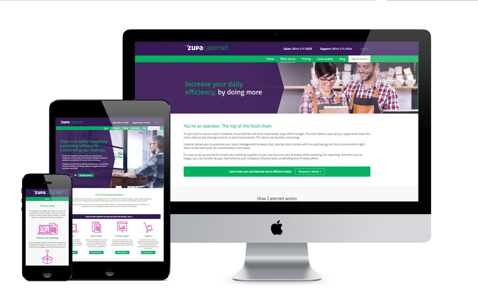 ZupaCaternet responsive website