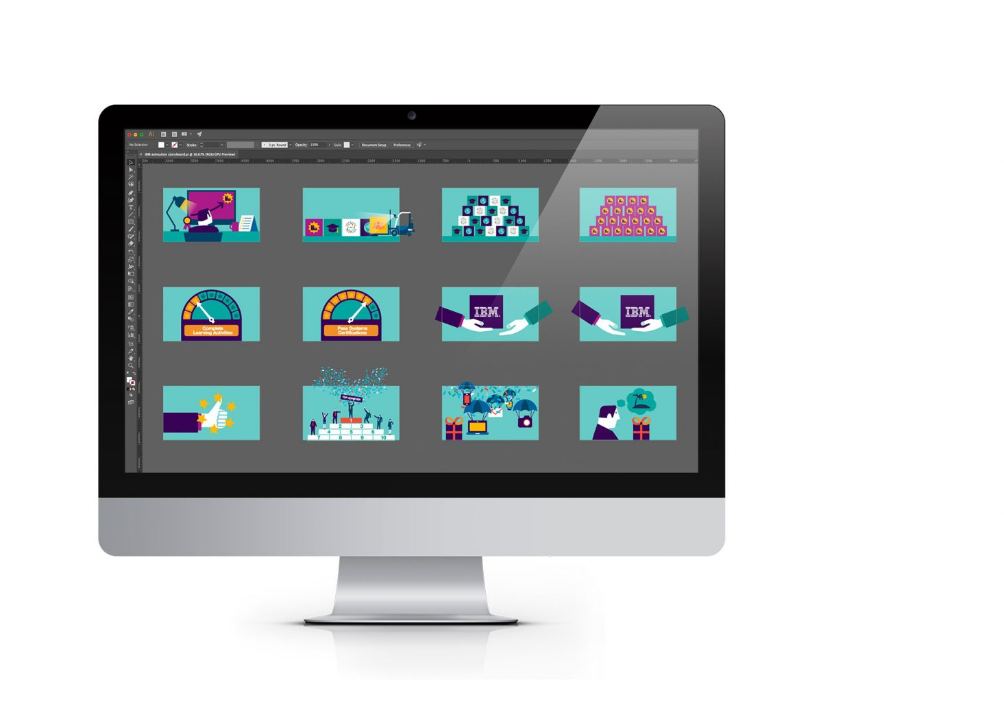 KYI IBM Animation storyboard