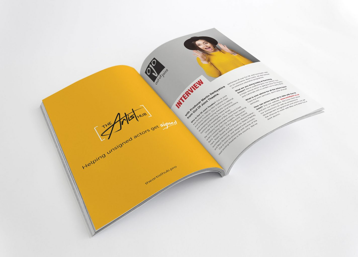 Advert – The Artist Hub – Responsive website