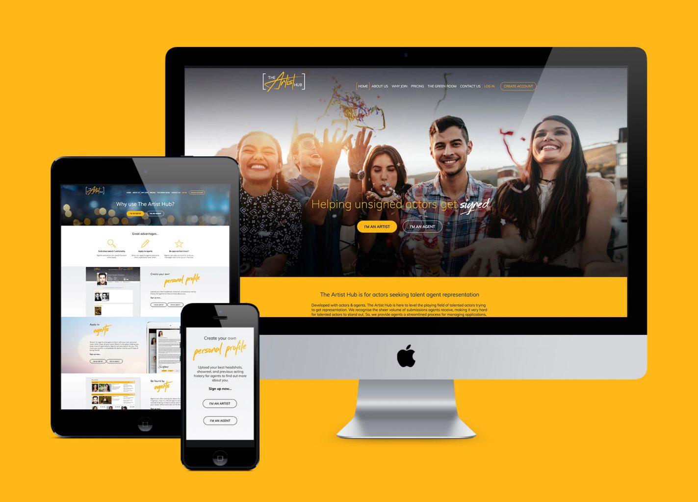 The Artist Hub – Responsive website